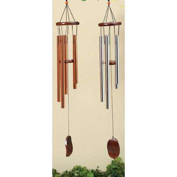 """28.5"""" Metal and Wood Wind Chime Assortment"""