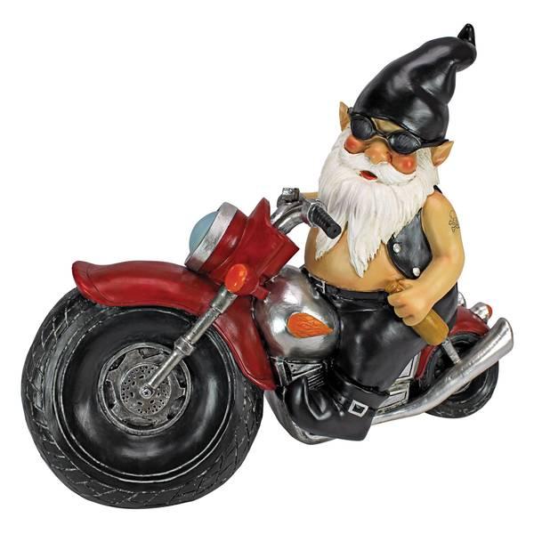 Axle Grease the Biker Gnome Statue