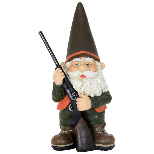 Hunting Gnome Figurine