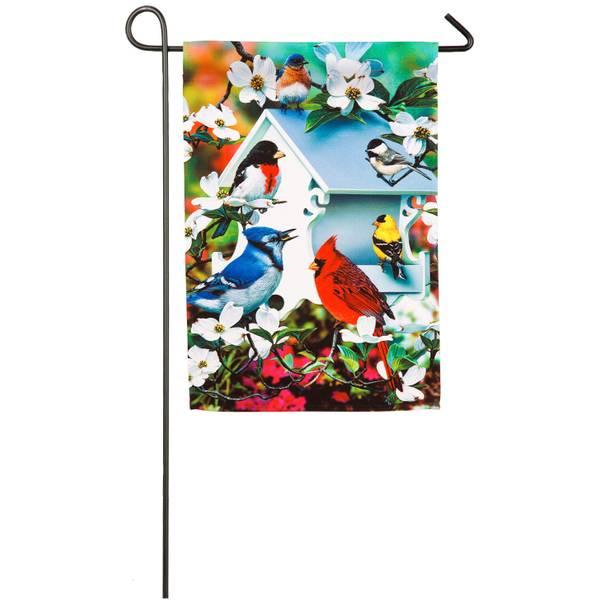 Backyard Bird House Garden Flag