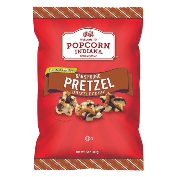 Dark Fudge Pretzel Drizzlecorn