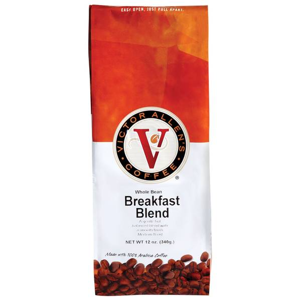 Breakfast Blend Whole Bean Light Roast Coffee
