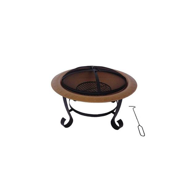 "30"" Round Painted Copper Brentwood Fire Pit"