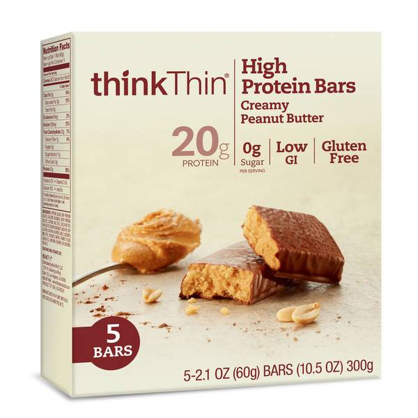 High Protien Bars Creamy Peanut Butter