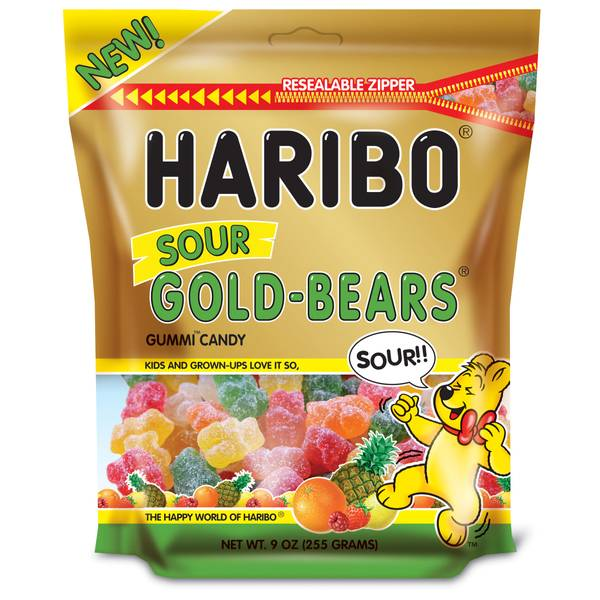 Sour Gold Bears Gummi Candies