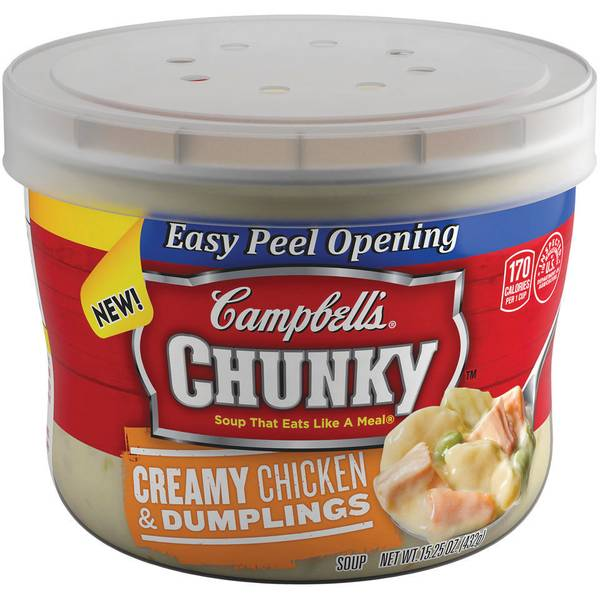 Chunky Microwavable Bowl Chicken Dumplings