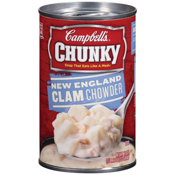 Chunky New England Clam Chowder Soup