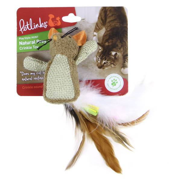 Natural Prey Feathered Crinkle Cat Toy