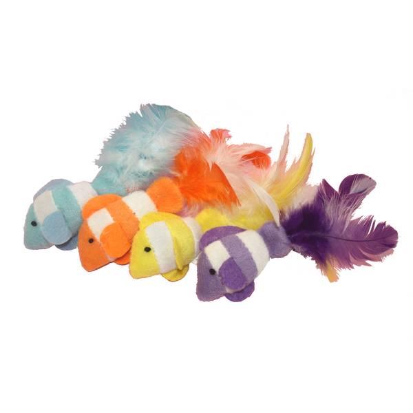 Feather Tail Catnip Clown Fish Assortment