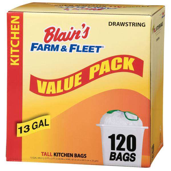 13 Gallon Drawstring Kitchen Bags
