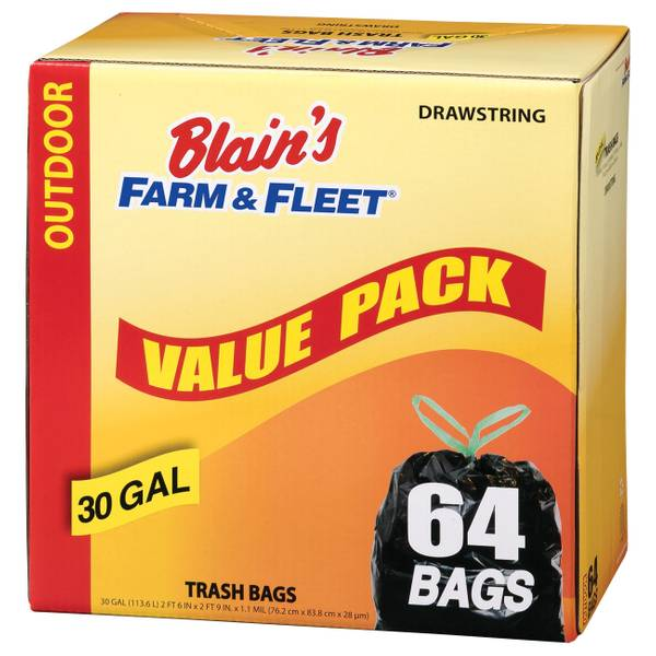 30 Gallon Drawstring Trash Bags