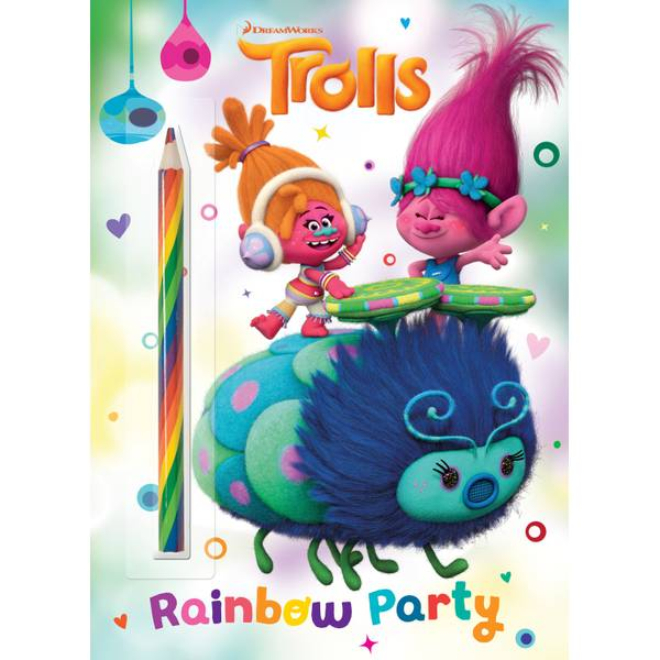 DreamWorks Trolls Rainbow Party Coloring & Activity Book
