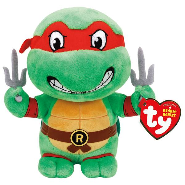 """Teenage Mutant Ninja Turtles 8"""" Raphael Beanie Baby"""