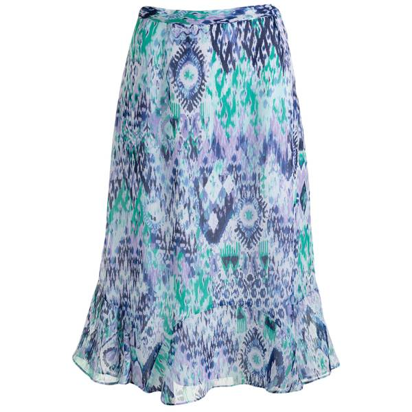 Misses Abstract Print Skirt