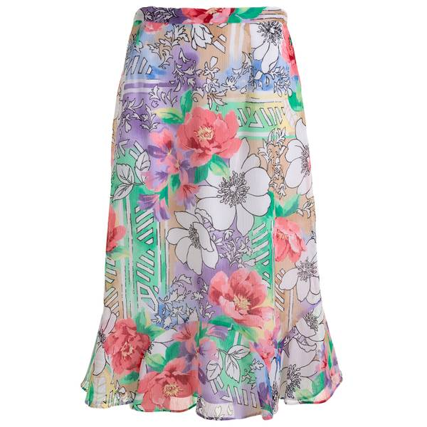 Misses Floral Print Skirt