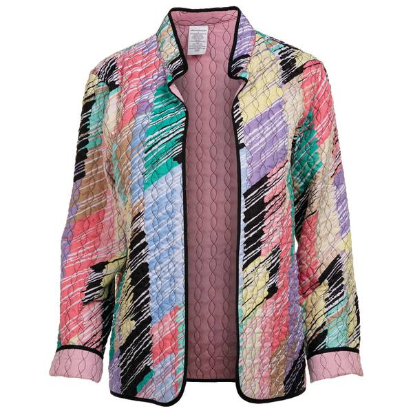 Misses Brushstroke Quilt Jacket