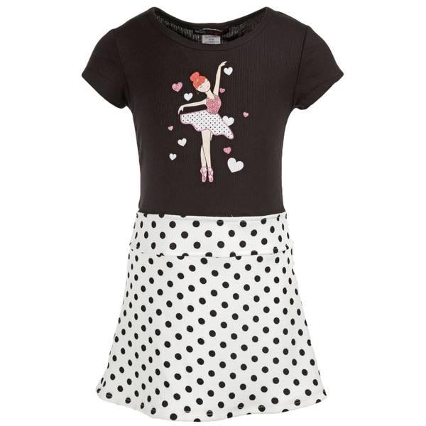 Little Girls' Drop Waist Ballerina Dress
