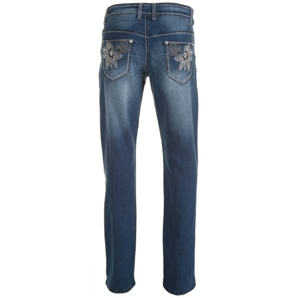 Misses Bootcut Floral Embroidered Jeans