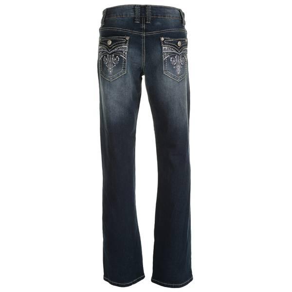 Women's Bootcut Flap Fleur di Lis Jeans