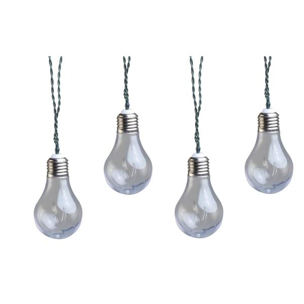 Solar String Lights Vintage Bulbs