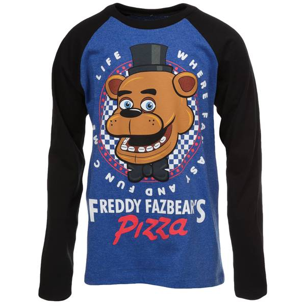 Big Boys' Long Sleeve Freddy Fazbear Tee