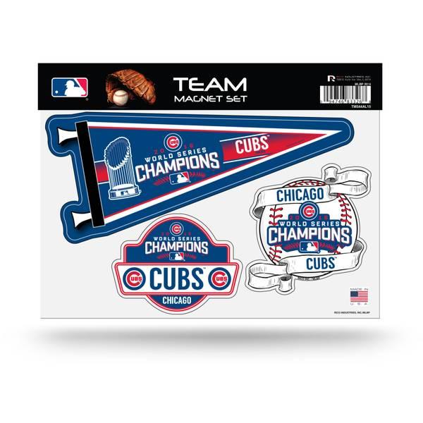 Chicago Cubs World Series Team Magnet Sheet
