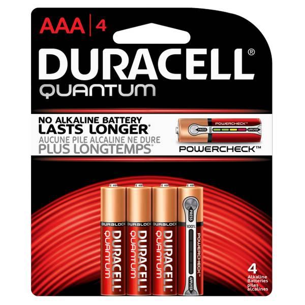 Quantum Alkaline AAA Batteries - 4 Pack