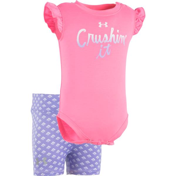 Baby Girls' Bodysuit & Shorts Set