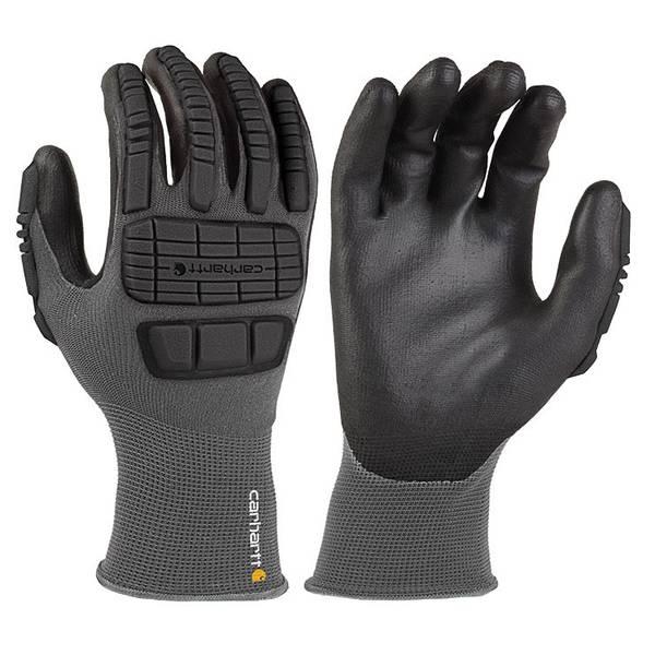 Men's Black Knuckle Protective Nitrile Gloves