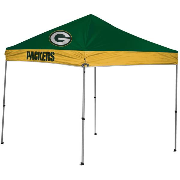 9x9 Green Bay Packers Straight Leg Canopy