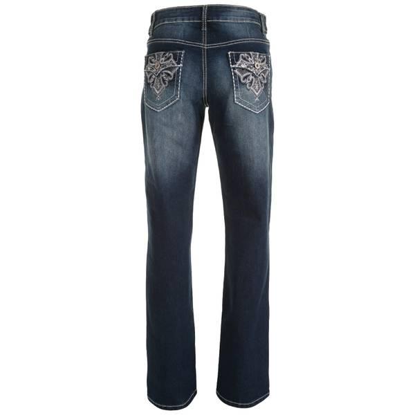Women's Flap Fleur di Lis Jeans