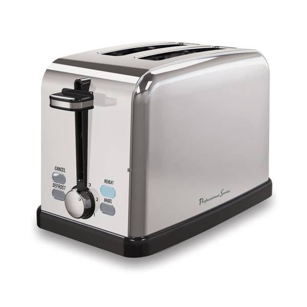 Professional Series 2 Slice Stainless Steel Toaster
