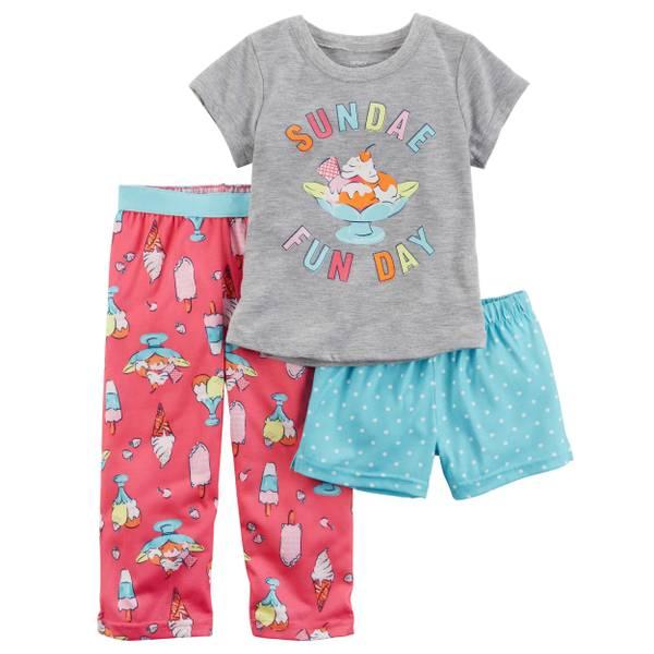 Baby Girls' 3-piece Pajamas