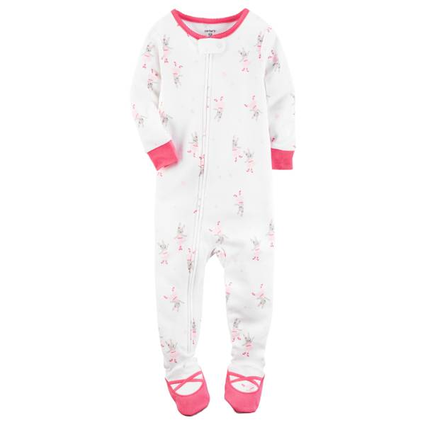 Baby Girls' 1-Piece Cotton Pajamas