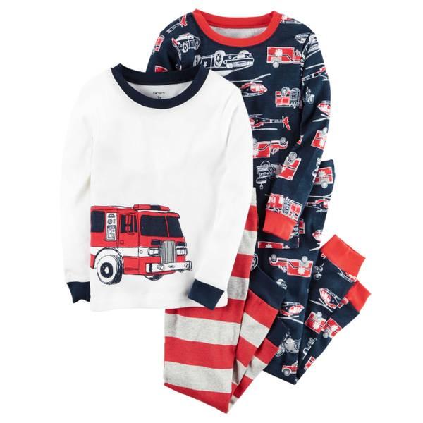 Boys' 4-piece Snug Fit Cotton Pajamas