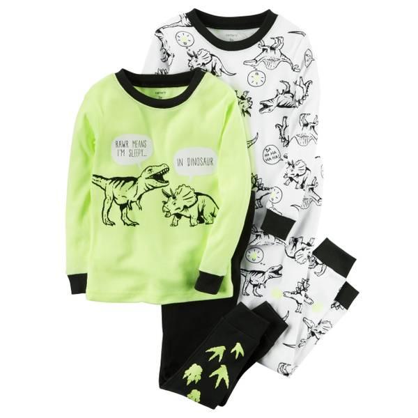 Baby Boy's Multi-Colored 4-Piece Dinosaur Pajamas