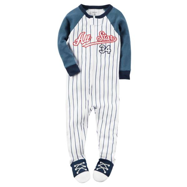 Baby Boys' 1-Piece Snug Fit Cotton Pajamas