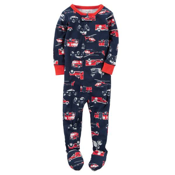Infant Boy's White & Navy 1-Piece Snug Fit All Star Pajamas