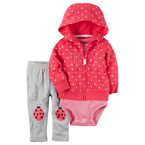 Baby Girls' 3-piece Cardigan Set