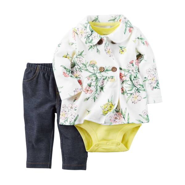 Baby Girls' 3-piece Cardigan Set