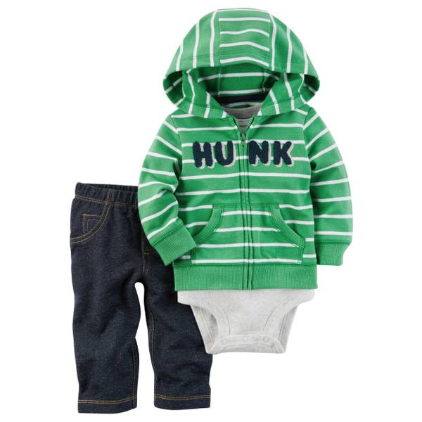 Baby Boys' 3-piece Cardigan Set