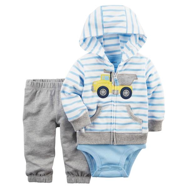 Baby Boys' 3-piece Cardigan Set