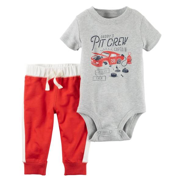 Baby Boys' 2-piece Short Sleeve Bodysuit & Pant Set