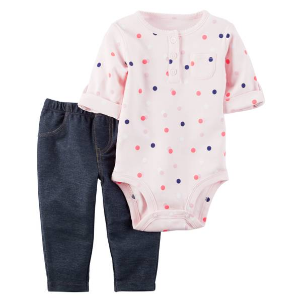 Baby Girls' Long Sleeve Bodysuit & Pant Set