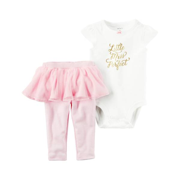 Baby Girls' 2-piece Bodysuit & Skirted Pants Set