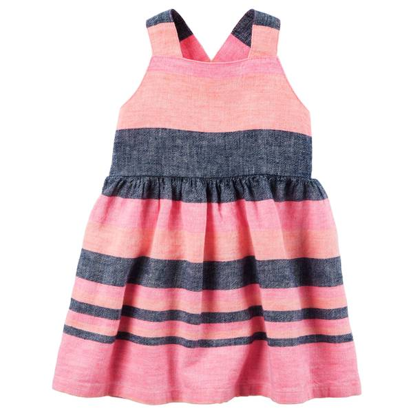 Baby Girls' Striped Linen Dress