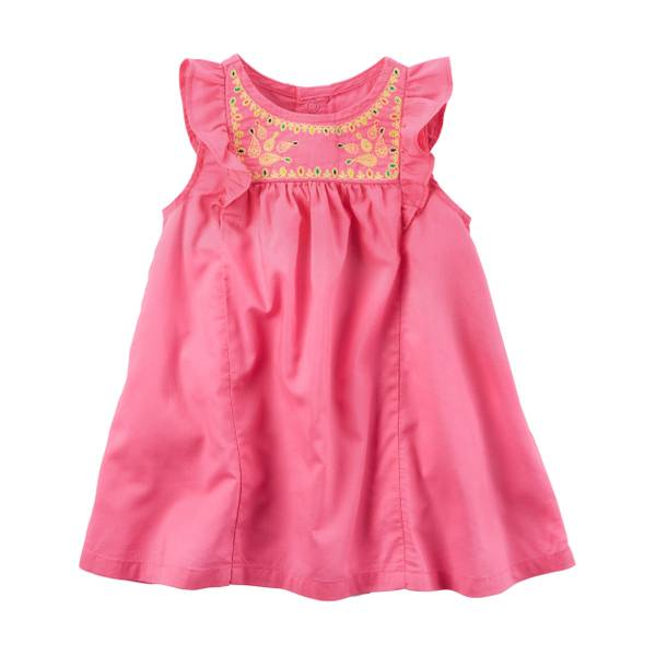 Baby Girls' Embroidered Yoke Dress