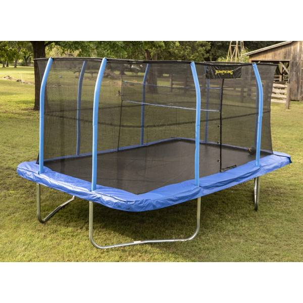 Jumpking 10' X 14' Rectangular Trampoline With Volleyball Net