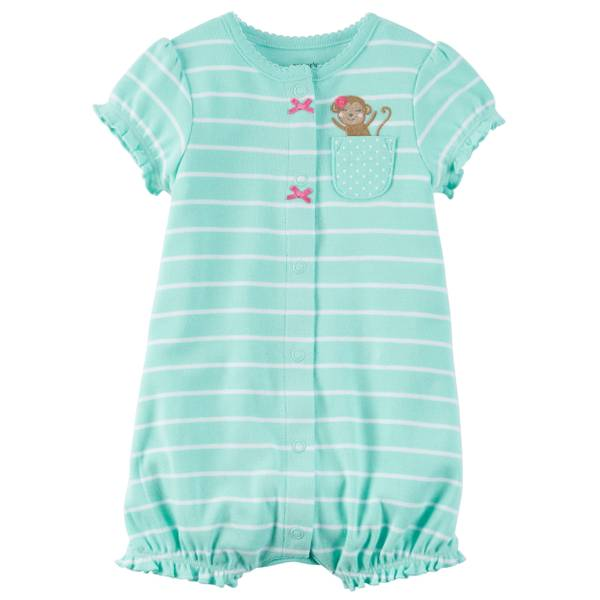 Baby Girls' Snap-Up Romper