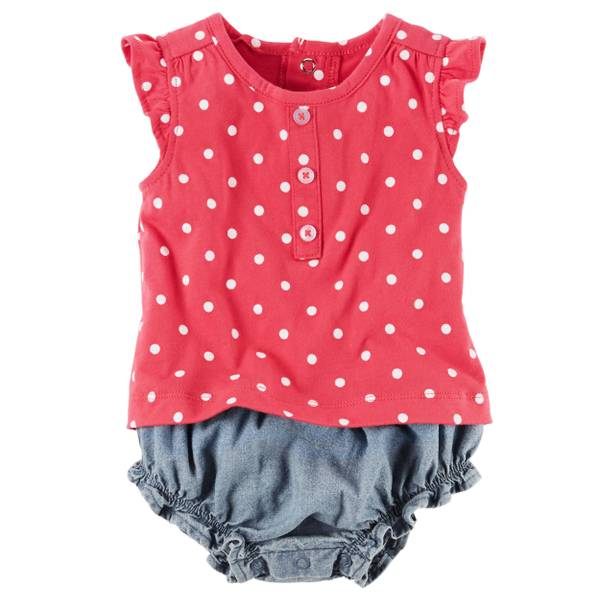 Baby Girls' Layered-Look Romper